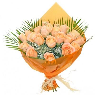 Bouquet 24 Rosas Champagne