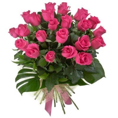 Bouquet  24 Rosas na cor Rosa