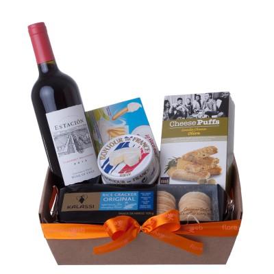 Cesta de Queijo e Vinho Cabernet Sauvignon