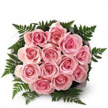 Bouquet 12 Rosas na cor Rosa