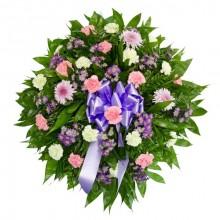 Coroa de Flores Tons Claros