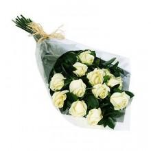 Bouquet 12 Rosas Brancas