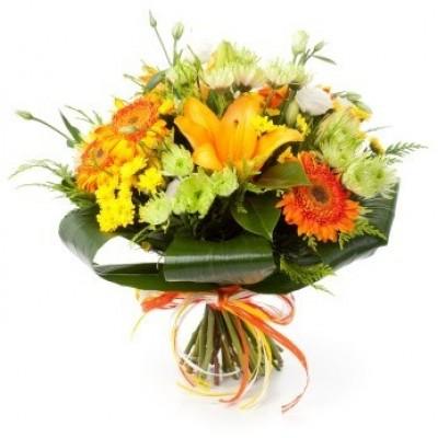 flower-bouquet-yellow-orange
