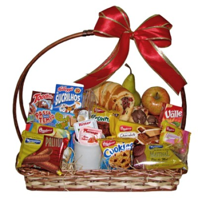 Traditional Breakfast Gift Basket for One Person