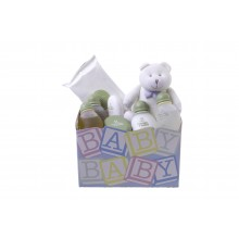 Fresh and Clean Natura Gift Basket for Baby Boy