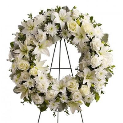 Corona de Flores Branca
