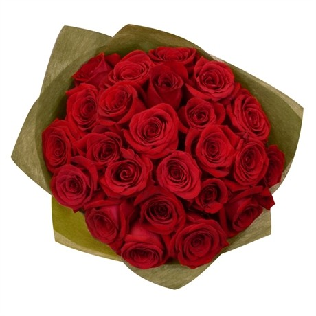 Envío De Flores A Brasil Ramo De 24 Rosas Rojas Floresnaweb