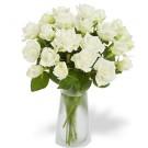 12 Rosas Blancas en Jarrón
