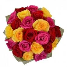 Ramo de 24 Rosas Multicolor
