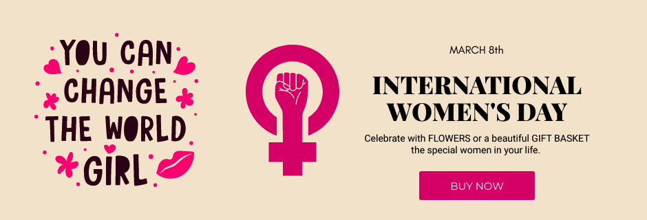 International Women's Day Flowers and Gifts to Brazil